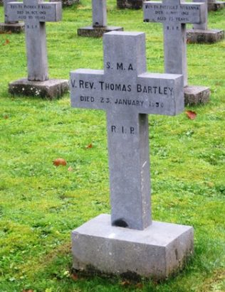 Headstone of Fr. Tom Bartley at Wilton, Cork | www.sma.ie/sma-obituaries