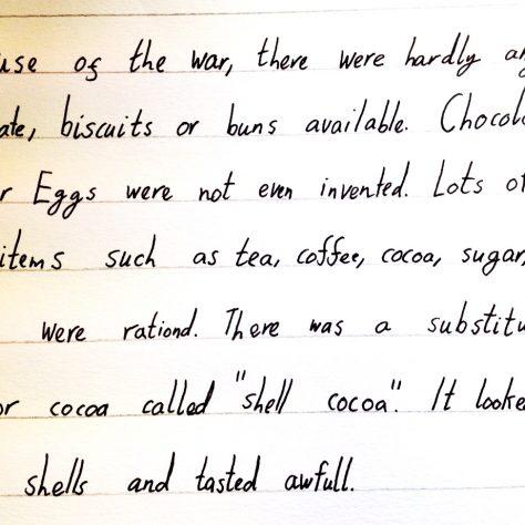 Chocolate long ago.