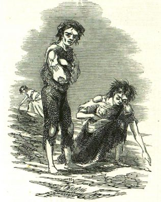 Searching for Potatoes. | Illustrated London News, 20 Feb 1847.