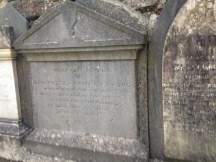 Plaque at Cong Church | D Joyce, Author, Personal Photo