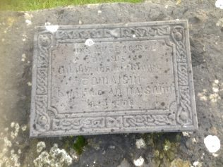 Plaque in Memory of Olivia Knight, taken from her family home before it was destroyed   Author, personal photograph
