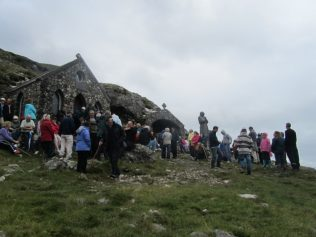 People gather at St. Patricks Chapel and St. Patrick's Bed | Aoife O'Toole