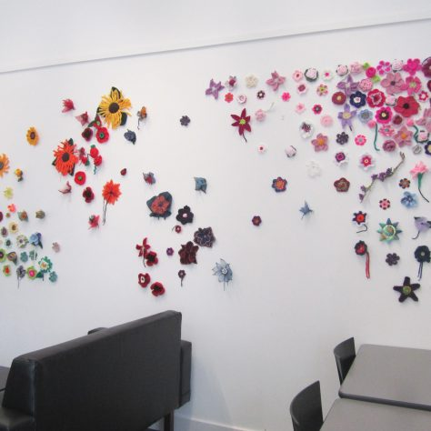 Display of flowers in the exhibition | Aoife O'Toole