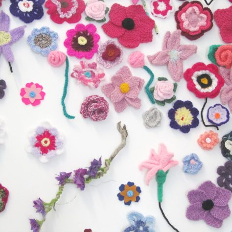 Knitting Circle and Connaught Textile Crafters Flowers | Aoife O'Toole
