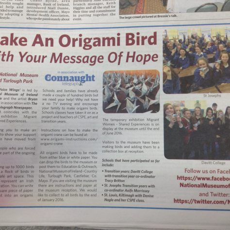 Article in Connaught Telegraph. | Aoife O'Toole