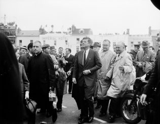 President Kennedy arriving in Eyre Square. | Courtest of the National Library of Ireland.