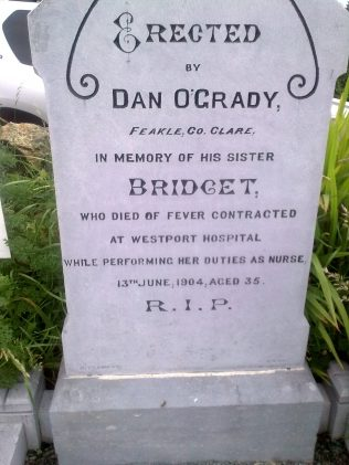 Bridget O Grady's Grave in Aughavale | Author Personal Collection