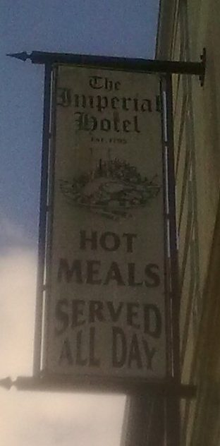 Imperial Hotel Sign. | Author's Personal Photo