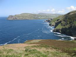 Coast of Isle of Man with Port Erin.   commons.wikimedia.org