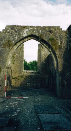 Late medieval chancel arch of Strade Friary | Yvonne McDermott