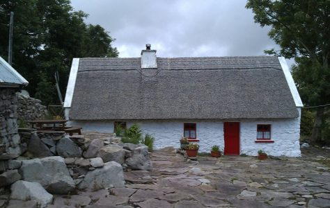 Restored Thatched Cottage near Killavalley, Westport