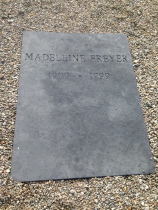 Madeline Freyer's grave | D. Joyce personal collection