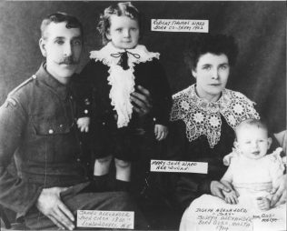James Alexander Ward with wife Mary Jane Dugan/Dougan of Co. Donegal and 2 sons | Barbara Murphy-Bridge