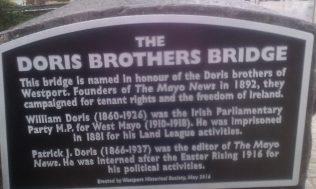 Plaque on Bridge James Street. | Author's Personal Photo