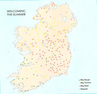 May Customs distribution Map Caoimhín Ó Danachair | Atlas of Ireland, Royal Irish Academy 1979