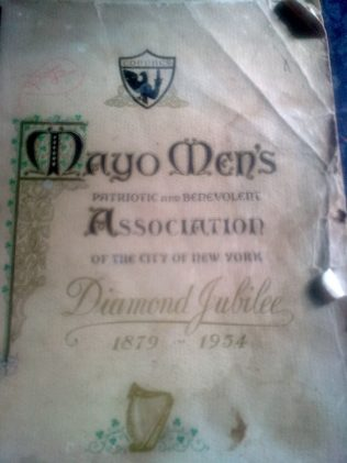 Mayo Men's Assoc. Journal. | Author's Personal Photo