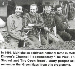 McNicholas in Channel 4 Documentary 1991   Personal Collection