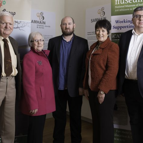 From left to right: Cormac Hanley, Mary Corrigan, Tom Doyle, Mary Wrafter, Michael O'Connor | Michael McLoughlin