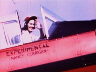 Nancy Corrigan ready to take to the sky at the Kendall Trophy Race in 1948 | Photo courtesy of GMarshTV