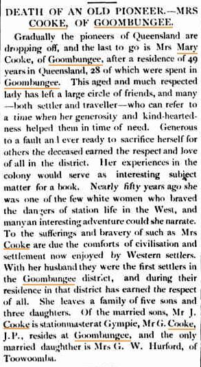 Darling Downs Gazette, 9 April 1898.   (Image: Trove Australia)