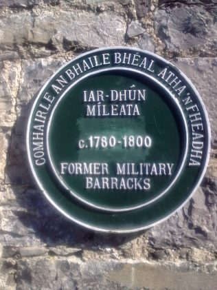 Sign on wall of Military Barracks Ballina. | Author's Personal Photo