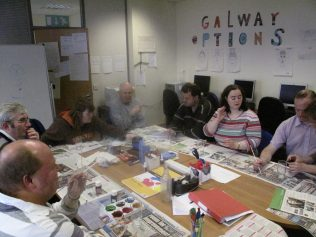 Glass painting session at Options