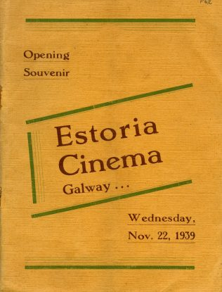 Programme from the opening of the Estoria in 1939. | Courtesy of Kieran Hoare, NUIG.