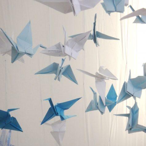 Close up of origami cranes. | Aoife O'Toole