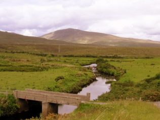 The Bridge is erected over the Abhainn Garbh River, it now leads on to  the famous Great Western Greenway | Author, Personal Collection