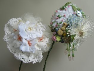 Flowers made by Patricia Youell for the exhibition in the National Museum of Ireland - Country Life