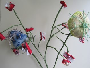 Flowers made by Patrick King for the exhibition in the National Museum of Ireland - Country Life