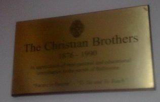 Plaque to honour Irish Christian Brothers in Ballinrobe Church | Author's Personal Photo