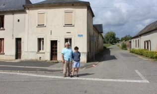 Redmond & George Morris in Vadencourt, 2014. | Courtesy of Redmond Morris.