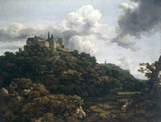 The Castle of Bentheim, 1653 Jacob van Ruisdael (1628/29-1682) | Photo © National Gallery of Ireland