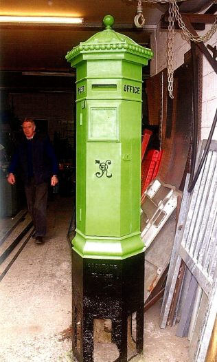 The Galway Penfold Pillar Box following restoration, which included the replacement of a long-missing finial. | Courtesy of Stephen Ferguson, An Post.