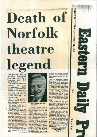Death of Norfolk Theatre Legend | Eastern Daily Press