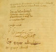 Signatures of Four Masters. | commons.wikimedia.org