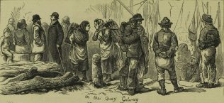 On the Quay Galway, by Harry Furniss. | Illustrated London News, 31 January 1880, p. 116.