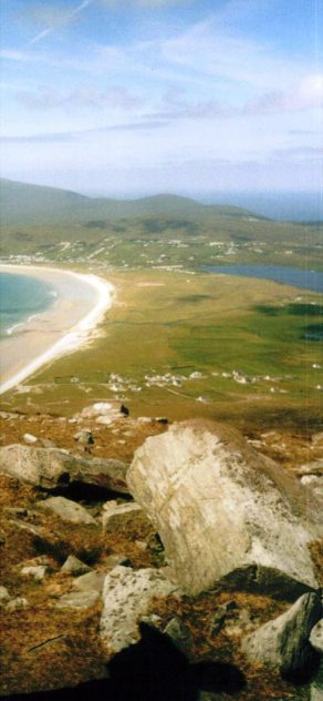 View of Keel Beach, from Minaun