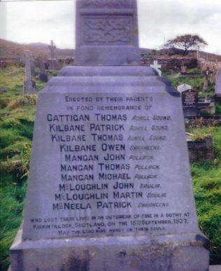 Memorial to Kirkintillock Tragedy Victims, Kildownet Graveyard