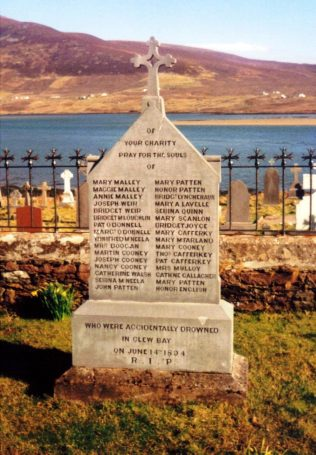 Memorial to the Clew Bay Drowning Victims, Kildownet Graveyard