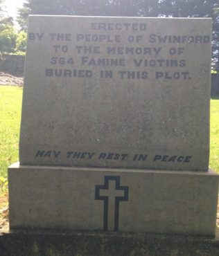 Memorial to victims of Famine | D. Joyce personal collection