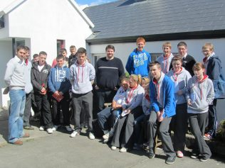 TY students from Colaiste Pobail Acla visiting the Cottage