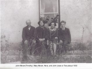 John Moran father mother Mary, Nora, John Josie | Moran Family