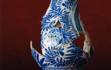 Portuguese Faience Vase & Tile Fragments