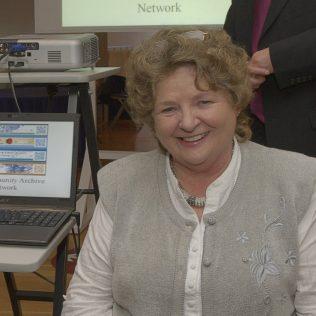 Averil Staunton at the launch of the Irish Community Archive Network 2011