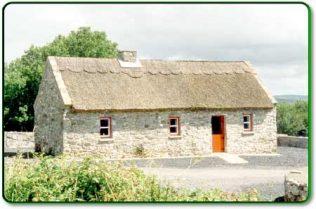 Eviction Cottage restored today | https://www.museumsofmayo.com/belcarra.htm