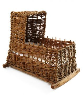 Object No 77 Wicker Cradle | National Museum Decorative Arts & History