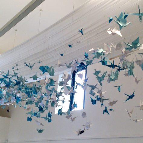 Give your Voice Wings art installation in the cafe art space. | Liam Doherty