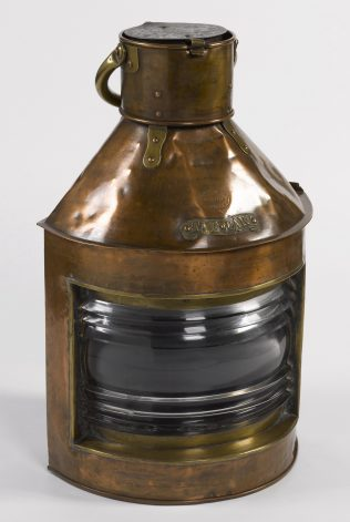 Object No. 90. Lamp from 'River Clyde', 1915 | National Museum of Ireland - Decorative Arts & History
